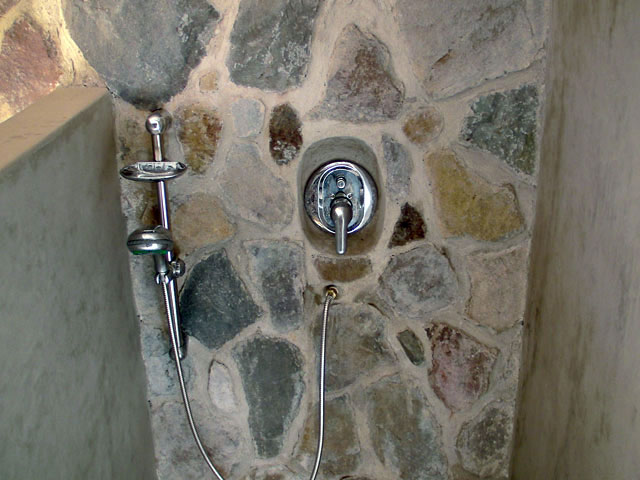 Stone shower at Pasajcap, Lago Atitlan