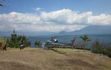 Helicopter landing at Pasajcap